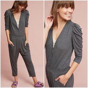 HD In Paris Fidelia Gray knit jumpsuit size large
